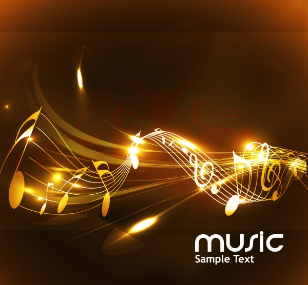 Different musical background is fleur banner banner treble clef music notes ((eps (24 files)