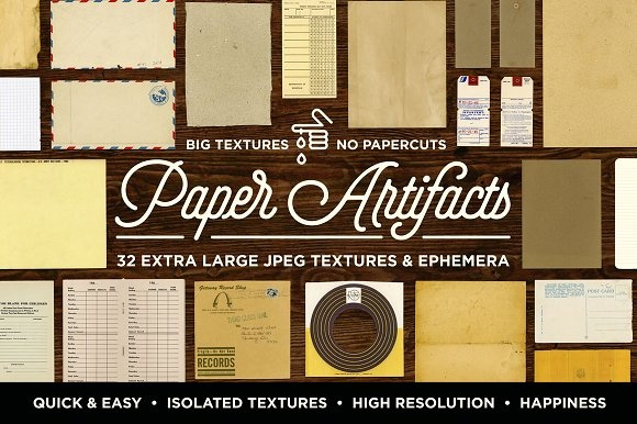 Paper Artifacts Texture Ephemera ((jpg (21 files)