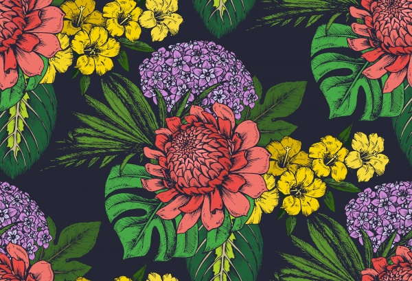 Tropical seamless patterns ((eps - 3 (18 files)