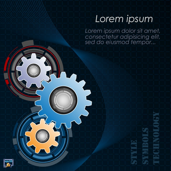 Vector a background picture industrial background service ((eps (31 files)