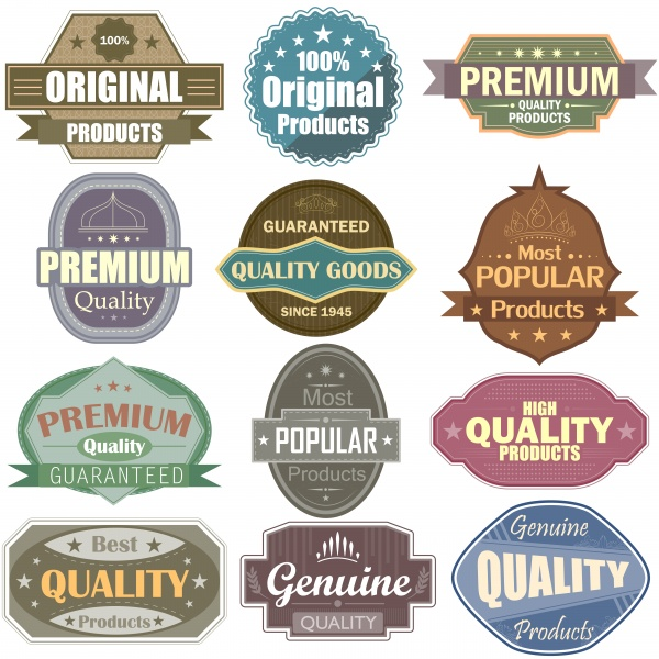 Vector label tag sticker and icons set ((eps - 2 (18 files)